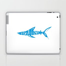 Stop Shark Finning (blue) Laptop & iPad Skin