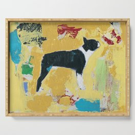 Boston Terrier Painting Art Serving Tray