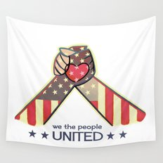 United Hands Wall Tapestry