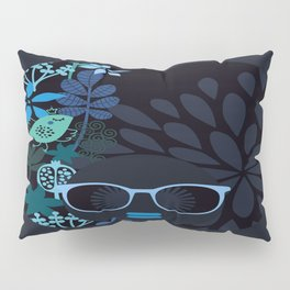 Afro Diva : Sophisticated Lady Teal Pillow Sham