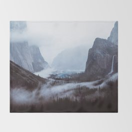 Yosemite Valley Mist Throw Blanket