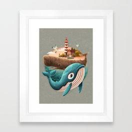 adventure begins Framed Art Print