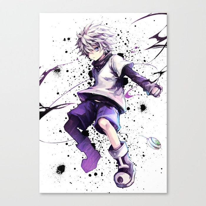 Hunter X Hunter Killua Zoldyck Canvas Print By Maxiposters