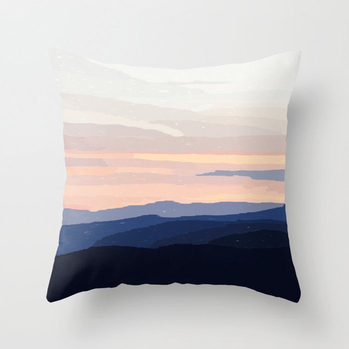 Pastel Sunset Over the Mountains