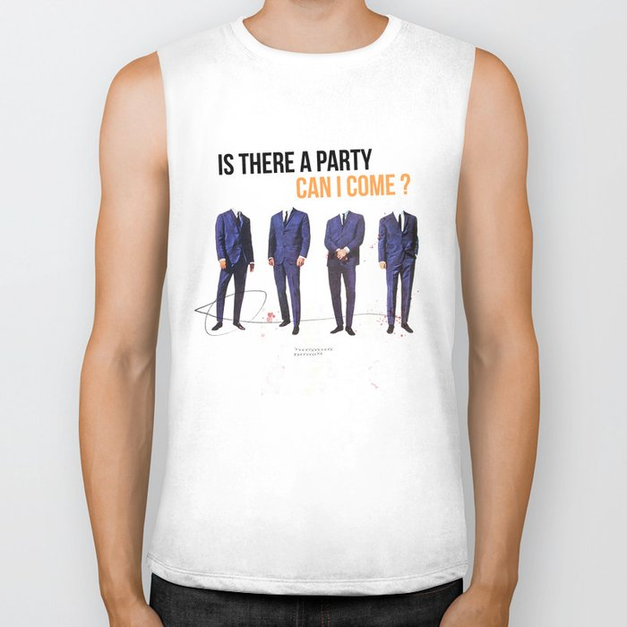 Is There a Party Can I Come | Collage Biker Tank