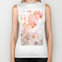 cherry blossom Biker Tanks featuring Cherry Blossom by Leanne Phillips