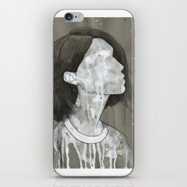 girl with a silver trabzon hasırı necklace iPhone Skin
