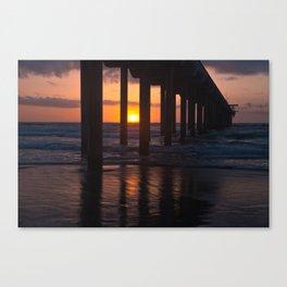 Sunset Captured Canvas Print