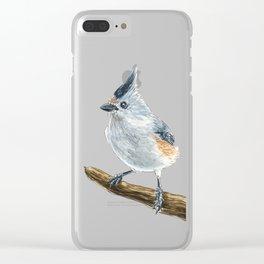 Titmouse bird watercolor Clear iPhone Case