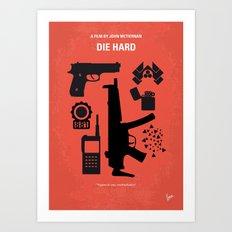 No453 My Die Hard minimal movie poster Art Print