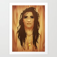native american Art Prints featuring Native American by Kimball Gray