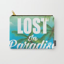 Lost in paradise travel poster Carry-All Pouch