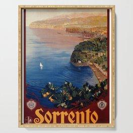 Italy Sorrento Bay of Naples vintage Italian travel Serving Tray