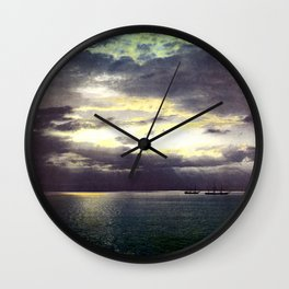 Vintage Sunset Waters : St Lawrence River 1901 Wall Clock