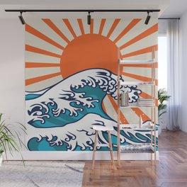 The Great Wave off Kanagawa, japanese wave poster, digital print, great wave of kanagawa, japan wave Wall Mural