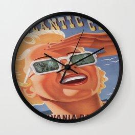 Vintage poster - Atlantic City Wall Clock