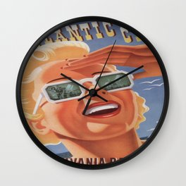 Vintage poster - Atlantic City Wall Clock