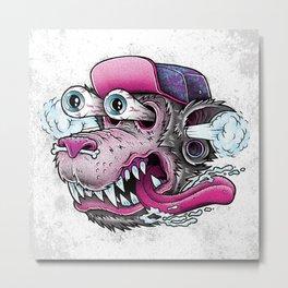 Wolf Dude Metal Print