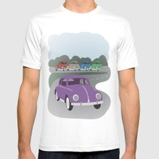 V Bug SMALL White Mens Fitted Tee