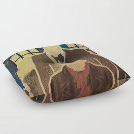 Day of the Doctor Floor Pillow