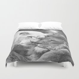 Lion in Love Valentine's Day Duvet Cover