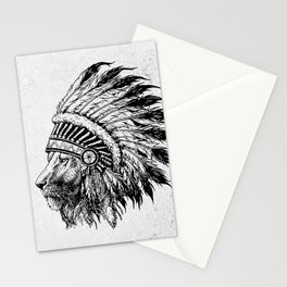 Lion Tribal Stationery Cards