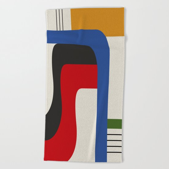 TAKE ME OUT (abstract geometric) Beach Towel