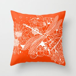 The Dragon Fly Throw Pillow