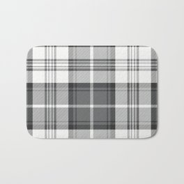 Black & White Tartan Bath Mat