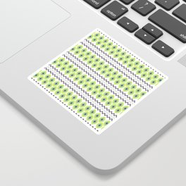 Abstract avocado green black geometric zigzag stripes pattern Sticker