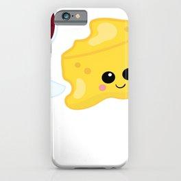 Kawaii Wine Kawaii Cheese Wine and Cheese iPhone Case