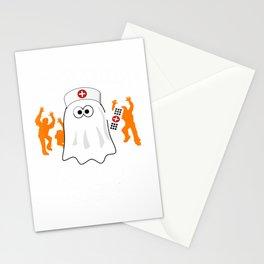Nightshift Nurse Halloween Boo Boo Crew Funny Ghost T-Shirt Stationery Cards