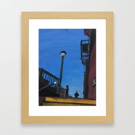 Blue Not Quite Night Framed Art Print