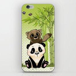 Tanuki et Panda iPhone Skin