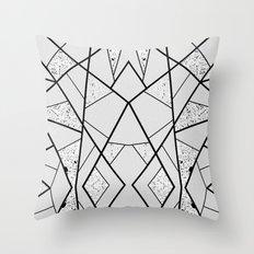 White Break Space Throw Pillow