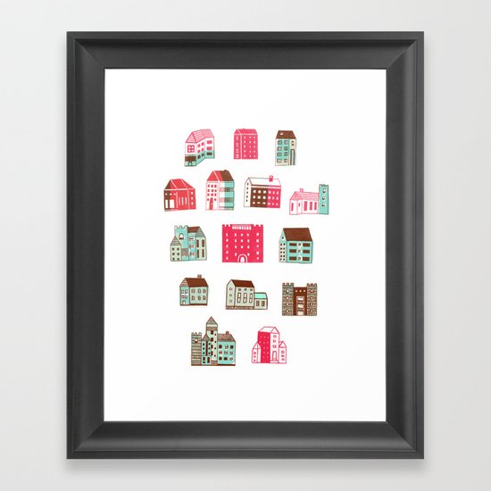 Places to rent Framed Art Print