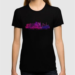 Las Vegas skyline purple T-shirt