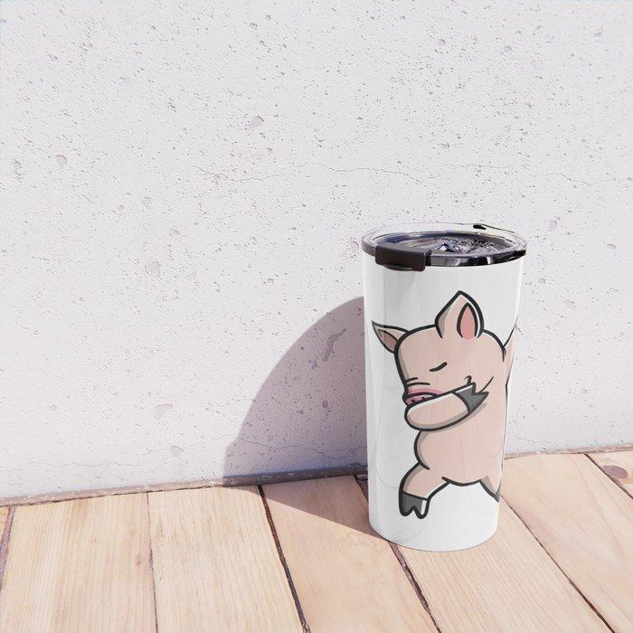 Funny Dabbing Mini Pig Pet Dab Dance Travel Mug