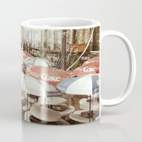 coke Mugs featuring Forgotten Coke by Jonathan May