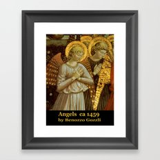 1459 Benozzo Gozoli - Angels (detail) Framed Art Print