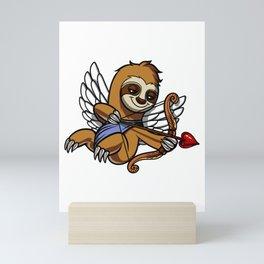 Sloth Cupid Cute Valentines Animal Mini Art Print
