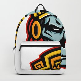 Aztec Warrior Skull Mascot Backpack