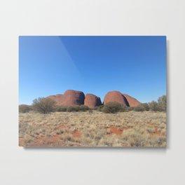 Olgas Red Center Australia Metal Print