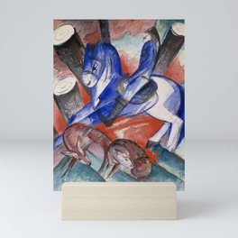"""Franz Marc """"Saint Julian l'Hospitalier"""" Mini Art Print"""