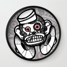 Creepy Cymbal-banging Monkey Wall Clock