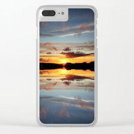 Reflecting Sunset - 10 Clear iPhone Case