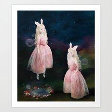 the midnight folk Art Print