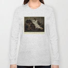 Vintage Painting of Fluffy Cats (1902) Long Sleeve T-shirt