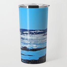 Winter Coastal Town Travel Mug