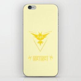 Team Instinct Logo PokemonGO iPhone Skin